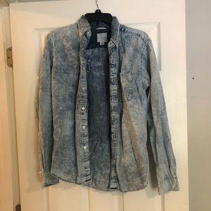 American Eagle Denim Button Up Shirt Unisex XS